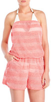 Jordan Taylor Striped Bandeau Cover-Up Romper