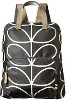 Orla Kiely Linear Stem Backpack Tote Bag - Liquorice