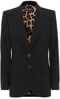 Dolce & Gabbana Stretch-wool crepe blazer