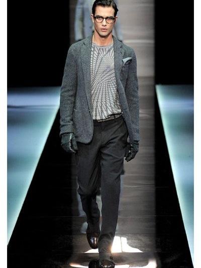 Giorgio Armani Basket Weave Wool Knit Jacket