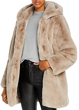 Apparis Maria Hooded Faux-Fur Coat