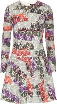 Raoul Avalon printed bonded lace mini dress