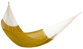 Novica Cotton hammock, 'Maya Mustard' (double)