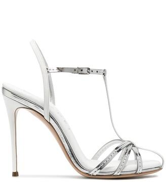 Casadei Metallic Strappy Sandals