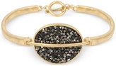 Kenneth Cole New York Gold-Tone Sprinkle Stone Disc Toggle Bracelet
