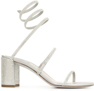 Rene Caovilla Cleo twist strap block sandals