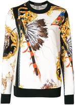 Versace Native American baroque sweatshirt