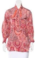 Celine Silk Paisley Print Blouse