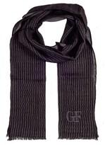 Gianfranco Ferre Scr7874/10 Grey Stripe Scarf.