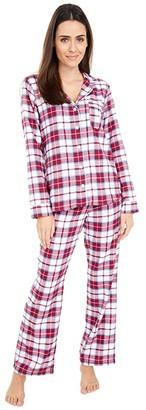 UGG Raven Set Flannel Gift (White/Red Plaid) Women's Pajama Sets