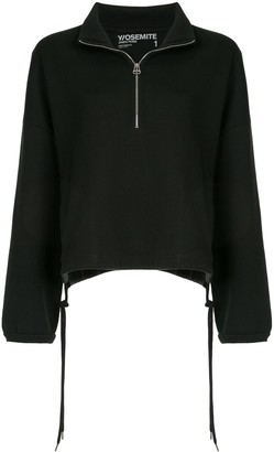 James Perse Oversized Half-Zip Top