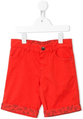 Paul Smith Logo Patch Denim Shorts