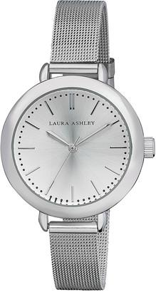 Laura Ashley Women's Watches - Silvertone Mesh Bracelet Watch