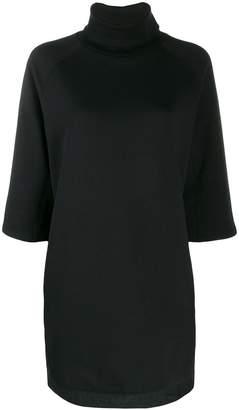 Emporio Armani roll neck sweatshirt dress