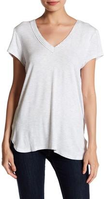 H By Bordeaux Solid Double V-Neck T-Shirt