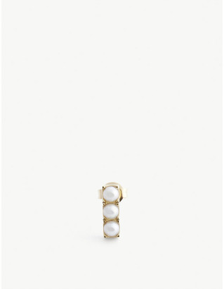 9ct Gold Pearl Stud Earring