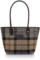 Barbour Winter tartan tote bag