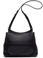 The Row Sideby Pebbled Calfskin Crossbody Bag, Black
