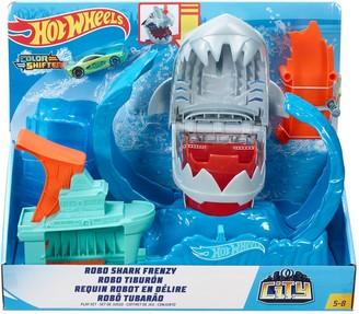 Mattel Hot Wheels Robo Shark Frenzy Play Set