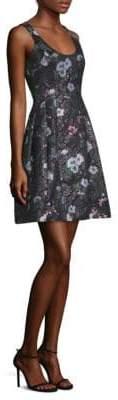 Prabal Gurung Floral Jacquard Fit-&-Flare Dress