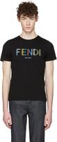 Fendi Black Stripe Logo T-shirt