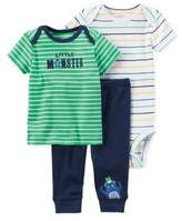 Carter#39;S carter's Preemie 3-Piece Dinosaur Bodysuit and Pant Set