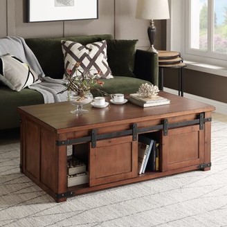 Laurel Foundry Modern Farmhouse Rosa Solid Wood Coffee Table with Storage