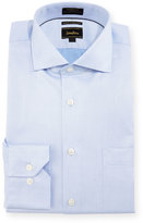Neiman Marcus Luxury Tech Classic-Fit Diamond-Print Dress Shirt, Blue