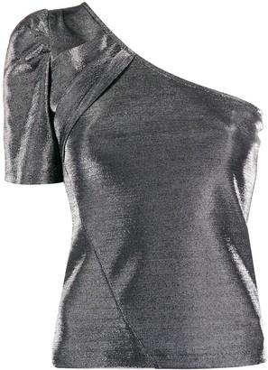 FEDERICA TOSI Metallic One-Shoulder Top