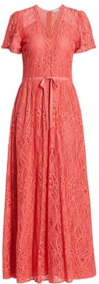ML Monique Lhuillier Laser Lace Dress
