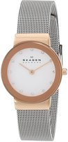Skagen Women's 358SRSC White Label Analog Display Analog Quartz Watch