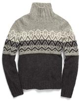 Todd Snyder Pattern Turtleneck in Bowery Grey