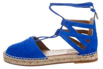 Aquazzura Belgravia Lace-Up Espadrilles w/ Tags