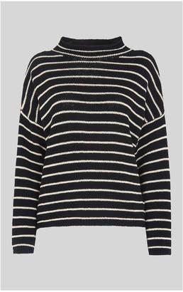 Fine Stripe Relaxed Sweater