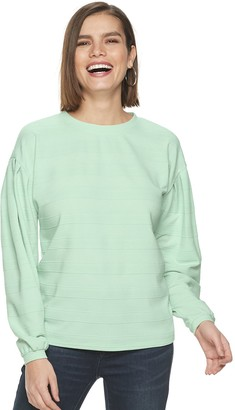 Apt. 9 Women's Pleated Sleeve Sweatshirt