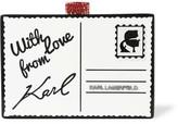 Karl Lagerfeld Postcard Acrylic Box Clutch - Black