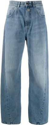 Semi-Couture Wide-Leg Jeans