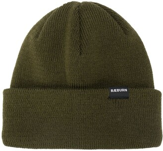 Raeburn Ribbed-Knit Logo Patch Beanie