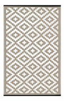 Wildon Home Lightweight Reversible Taupe/White Indoor/Outdoor Area Rug Rug Size: 3' x 5'