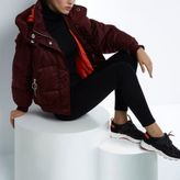 River Island Womens RI Studio red cropped puffer jacket with hood