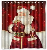 "Unique Custom Merry Christmas Dreamlike the Santa Claus Waterproof fabric Polyester Shower Curtain 66""X72""-Bathroom Decor"