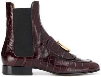 Chloé C croc-effect Chelsea boots