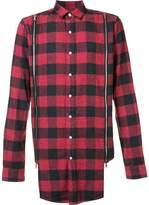 Mostly Heard Rarely Seen zipped detailing plaid shirt