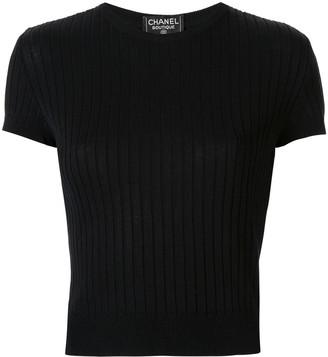 Chanel Pre Owned CC short sleeve top