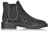 Giuseppe Zanotti Black Glitter Ankle Boot