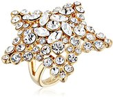 Kate Spade Star Clear/Gold-Tone Ring, Size 6