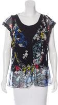 Elie Tahari Silk Printed Blouse w/ Tags