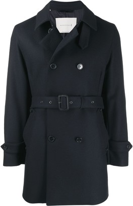 MACKINTOSH FETLAR Navy Wool Short Trench Coat|GM-1014F