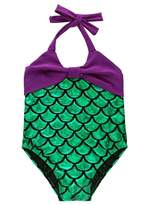 Angel Legend Little Girls Mermaid Swimming Suit Swimwear Swimsuit Fancy Cosplay Dress 5T