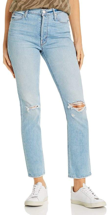 Mother The Dazzler Button Fly Ankle Straight-Leg Jeans in Really Intoxicated